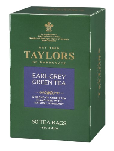 Taylors of Harrogate Earl Grey Green Tea, 50-Count Tea Bags (Pack of 6)