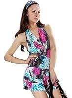 Samantha Look sommerliches Minikleid rückenfei hellblau Polyester Kleid