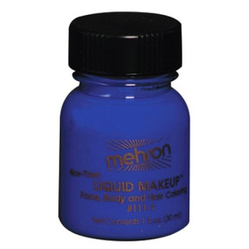 Mehron Liquid Face Paints - Blue BL (1 oz)