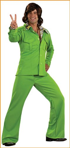 Men's Leisure Suit Halloween Costumes Lime Green