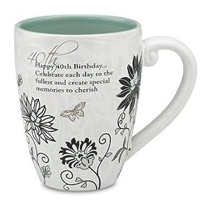 Mark My Words 40th Birthday Mug, 4-3/4-Inch, 17-Ounce Capacity