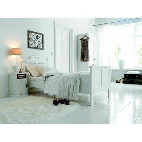 Alfred & Compagnie - Victoria lit à armoiries 90x200 laqué blanc