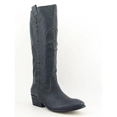 Rachel Roy Womens Irella Leather Boot (6.5, Gray)