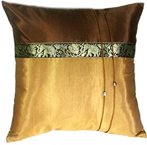 Gold Brown Throw Pillows : Amazon.com: Artiwa 16