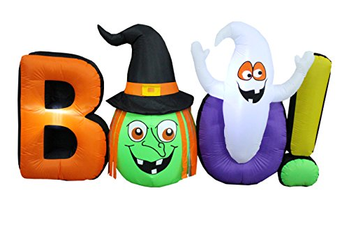 8 Foot Long Halloween Inflatable Witch Ghost BOO Decoration