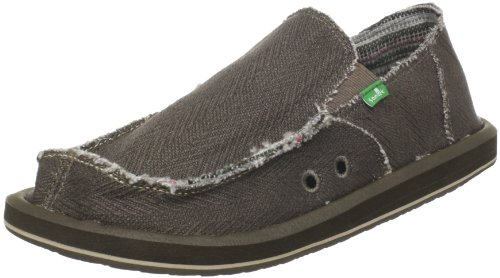 Sanuk Men's Hemp Slip-On,Olive,11 M US