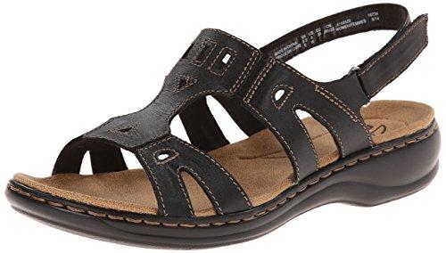 Clarks Women's Leisa Annual Espadrille Sandal, Black, 8 M US