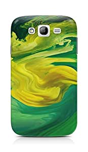 Amez designer printed 3d premium high quality back case cover for Samsung Grand Neo Plus (Hurricane Swirl Abstract Art Paint Green Pattern)