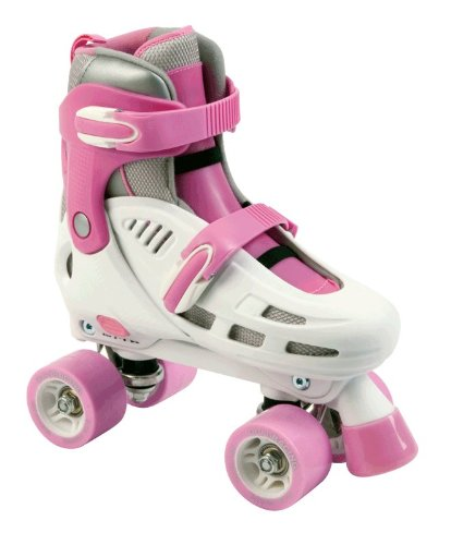 Sfr 'Storm' Adjustable Quad Skates - White And Pink - Size 3-6