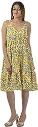 HotShot Women's Polyester V-Neck Dress (RH031, X-Large)