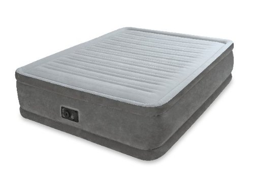 Intex Comfort Plush Elevated Dura-Beam Airbed, Bed Height 18, Queen