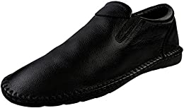 Shoe Bazar Black Leather Loafers B01M0ONA1X