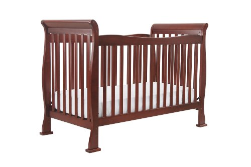 DaVinci Rivington 4-in-1 Convertible Crib with Toddler Rail, Cherry