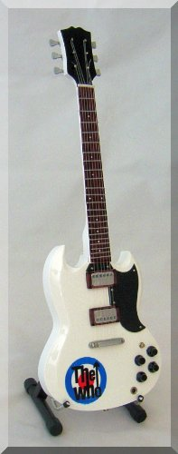 Pete Townshend Miniature Guitar The Who Sg White