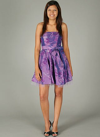 Swirl Rosette Formal Dress for Bridesmaid Formal Prom MED LPRP