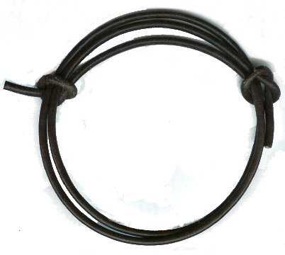 Mens Black Adjustable Leather Cord Surf Bracelet