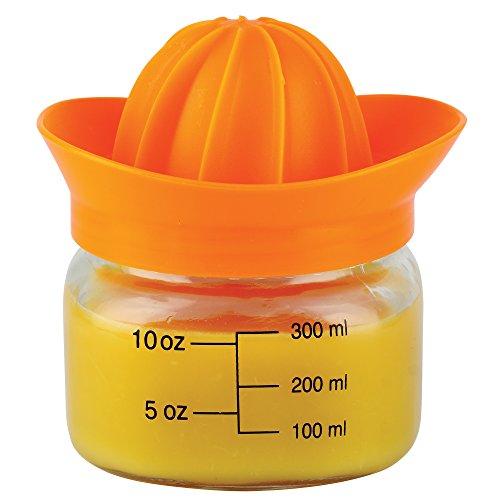 CKB Ltd® GLASS MASON JUICER Verre centrifugeuse presse-agrumes comprend un capuchon avec couvercle - Presse Agrumes Manuel détient 13,5 oz/400 ml