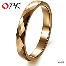 buy Handmade Jewelry Pure Tungsten Ring Yellow Color Vintage Style Wedding Ring 218
