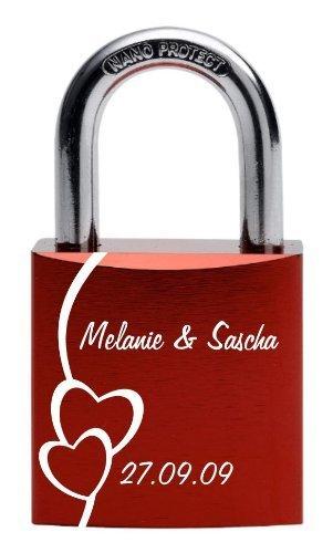 Gravurenalarm-Liebesschloss-rot-mit-individueller-einseitiger-Gravur