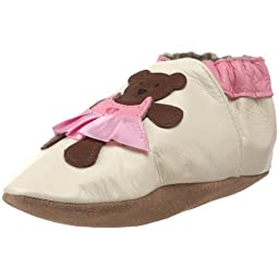 Robeez Soft Soles Ballerina Bear Slip-On (Infant/Toddler/Little Kid), Cream, 12-18 Months (4.5-6 M US Toddler)