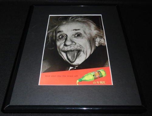 albert-einstein-1997-mello-yello-framed-11x14-original-vintage-advertisement