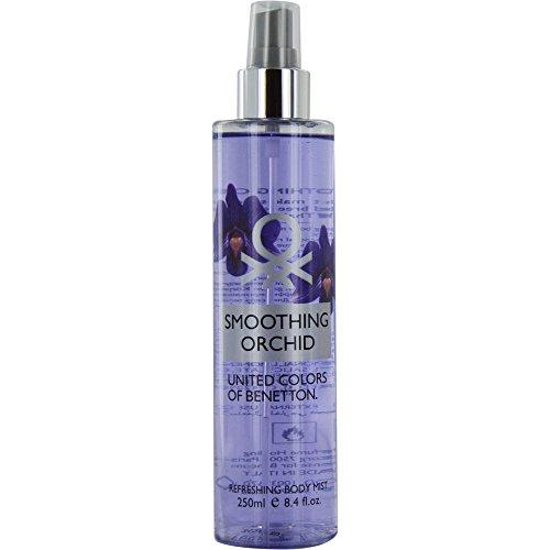 United Colors of Benetton, Smoothing Orchid, Spray corpo profumato e rinfrescante da donna, 250 ml