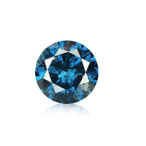 0.06 ct 2.50 mm I1-I2 Blue Round Brilliant Natural