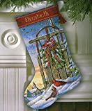 Gold Collection Christmas Sled Stocking Counted Cross Stitch-16