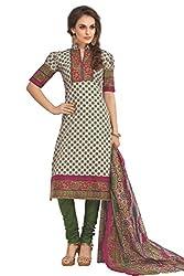 Gugaliya Women's 100 % Cotton UNSTICHED Salwar, Kameez & Dupatta Suit (SJ- 3111)