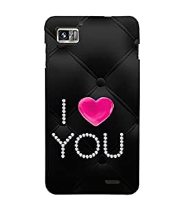 EPICCASE diamond love Mobile Back Case Cover For Lenovo K860 (Designer Case)
