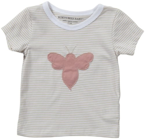 Burt's Bees Baby Baby Girls' Mini Stripe 'Bee' Tee (Baby)