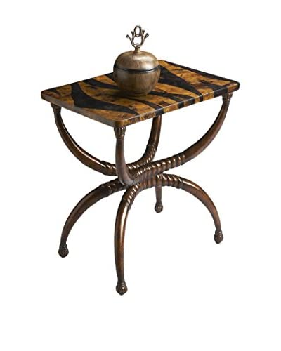 Butler Specialty Company Tiger Penn Shell Top Accent Table, Tiger