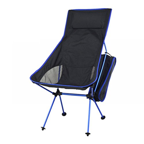 Folding Chair, HOOHI Ultra-Light Portable Foldable Recliner Chair, 150KG(Max Support) ALuminium Alloy Camping Chair for Indoor Outdoor Fishing Hiking with Carry Storage Bag (Dark Blue) (Folding Chair Replacement Parts compare prices)