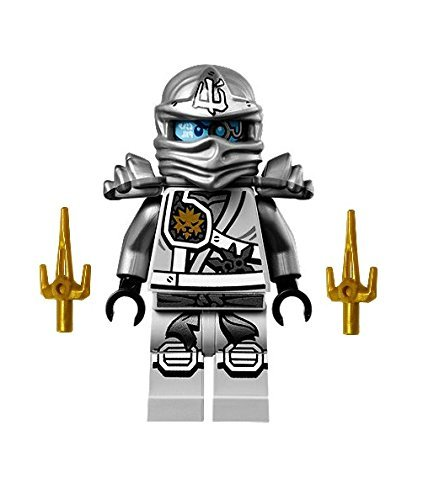 LEGO Ninjago Minifigure - Zane Titanium Ninja with Gold Sai weapons (70748)