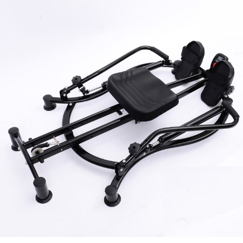 Soozier Adjustable Fitness Home Workout Rower Glider Machine