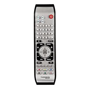 Thomson ROC4407 Télécommande universelle 4-en-1 Protection anti-choc caoutchouc Argent