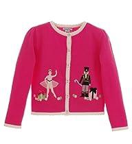 Hartstrings Infant Nutcracker Cardigan Sweater Fuchsia Bouquet 18M