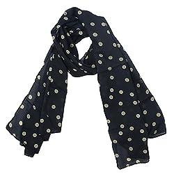 eFuture(TM) Black Fashion Charming Beautiful Warm Beige Polka Dot Scarf Wrap Women Lady Girl Shawl +eFuture's nice Keyring
