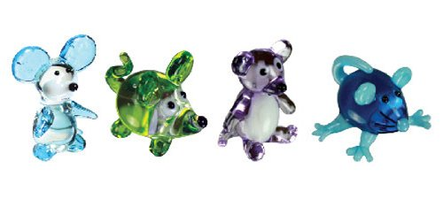 Looking Glass Miniature Collectible - Mouse / Rat (4-Pack)