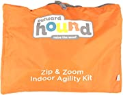 Outward Hound Kyjen  42003 Zip & Zoom Outdoor Agility Kit 3 Obstacle Dog Agility Kit with Dog Tunnel Weave Pole High Jump, Large, Multicolor