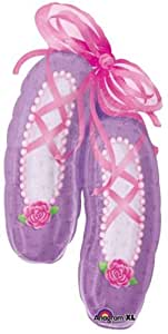 "Large Ballet Slippers Mylar Balloon 39"" Dance Ballerina"