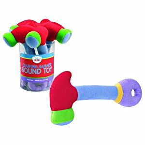 Gund Baby Crashing Hammer Sound Rattle, Red, 8.5