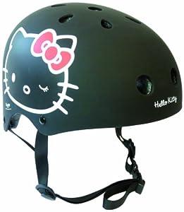 HELLO KITTY - Casco tamano S (50-54cm) - Negro