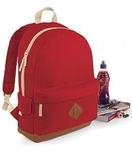 BagBase Heritage Backpack Unisex Black ONE