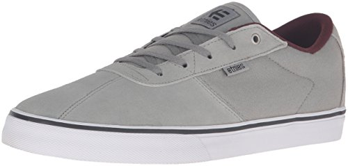 Etnies Men's Scam Vulc Skateboarding Shoe, Grey/Burgundy, 13 M US