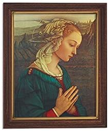 Lippi: Virgin in Adoration Series Old MastersPrint in Woodtone Finish Frame