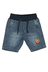 Chirpie Pie by Pantaloons Boy's Cotton Shorts (205000005607571, Blue, 18-24 Months)