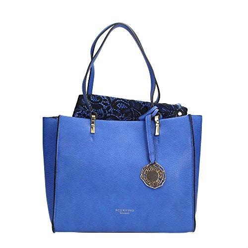 Scervino Street SCBPU0000242 Borsa A Mano Donna Ecopelle Blue Blue TU