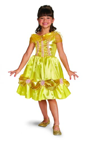 Disguise Disney Beauty And The Beast Belle Sparkle Classic Girls Costume, 7-8 front-1021563