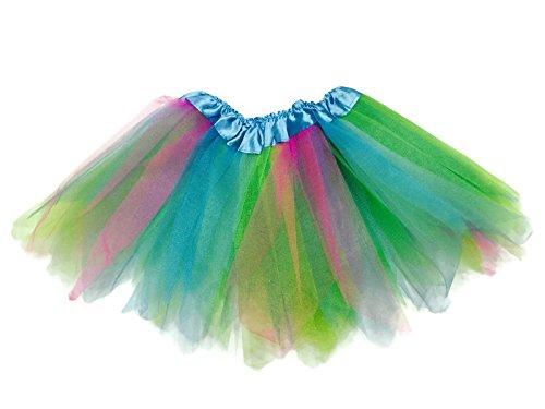 Rush Dance Angular Colorful Ballerina Dress-Up Princess Costume Recital Tutu (Blue & Pink & Lime) (Dancing Shark Costume compare prices)